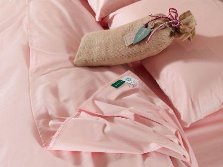 Le drap plat rose