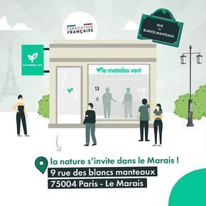 Ça y est!!! Nous sommes heureux de vous annoncer l'ouverture demain de notre nouvelle boutique #lematelasvert à Paris 🎆🎆🎆 On vous accueil demain 24 Avril 2021 au 9 rue des blancs manteaux de 11:00 à 17:00 ! Nous avons hâte de vous présenter la ligne de #matelas la plus #naturelle de #France et entièrement fabriquée en France 🇫🇷  Pendant le confinement nous ouvrons les week-ends du 1/2 Mais et 8/9 Mai de 11:00 à 17:00 avec le sourire même si le port du masque est obligatoire 😷  #literie #lemarais #paris #ecologique #naturel #ecoresponsable 💚💚💚💚