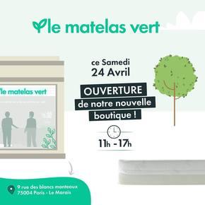 Ça y est!!! Nous sommes heureux de vous annoncer l'ouverture demain de notre nouvelle boutique #lematelasvert à Paris 🎆🎆🎆 On vous accueil demain 24 Avril 2021 au 📍9 rue des blancs manteaux de 11:00 à 17:00 ! Nous avons hâte de vous présenter la ligne de #matelas la plus #naturelle de #France et entièrement fabriquée en France 🇫🇷  Pendant le confinement nous ouvrons les week-ends du 1/2 Mais et 8/9 Mai de 11:00 à 17:00 avec le sourire même si le port du masque est obligatoire 😷  #literie #lemarais #paris #ecologique #naturel #ecoresponsable 💚💚💚💚