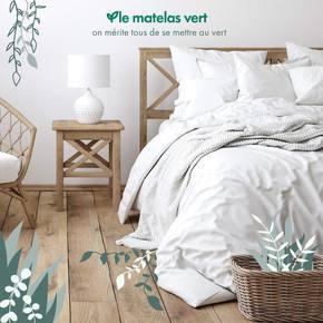 """""""On mérite tous de se mettre au vert""""  ✅ Dormir au naturel, sans se ruiner. ✅ Acheter français, sans importer. ✅ Planter un arbre, sans faire de pub.  Circuit court, télétravail, flux tendu, 120 nuits d'essai, confort, ergonomie, durabilité, résistance...  #lematelasvert c'est la recherche de l'excellence.  #matelas #literie #naturel #bio #madeinfrance"""