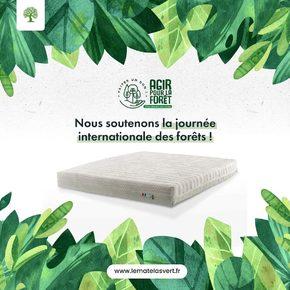 Ce week-end la #foret est à l'honneur 🌳🌳🌳🌳🌳  Nous sommes heureux de partager avec nos clients ces valeurs de préservation de l'environnement de protection de nos forêts à travers une simple relation commerciale qui va à contre-courant de l'insdustrie de la #literie et des #matelas provenant des 4 coins de la planète 🌍  Le combat pour un commerce toujours plus propre se poursuit toute l'année et pas seulement le jour de la journée internationale des forêts 💚